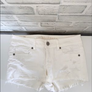 White distressed Jeans Shorts